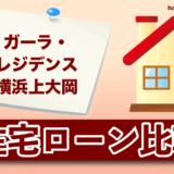 ガーラ・レジデンス横浜上大岡の住宅ローン比較・金利・ランキング・審査