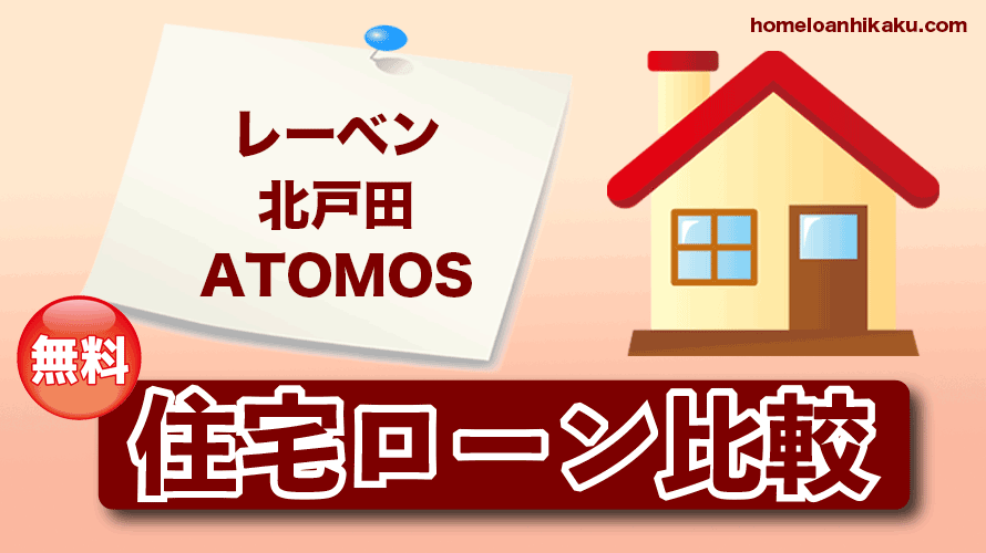 レーベン北戸田 ATOMOSの住宅ローン比較・金利・ランキング・審査