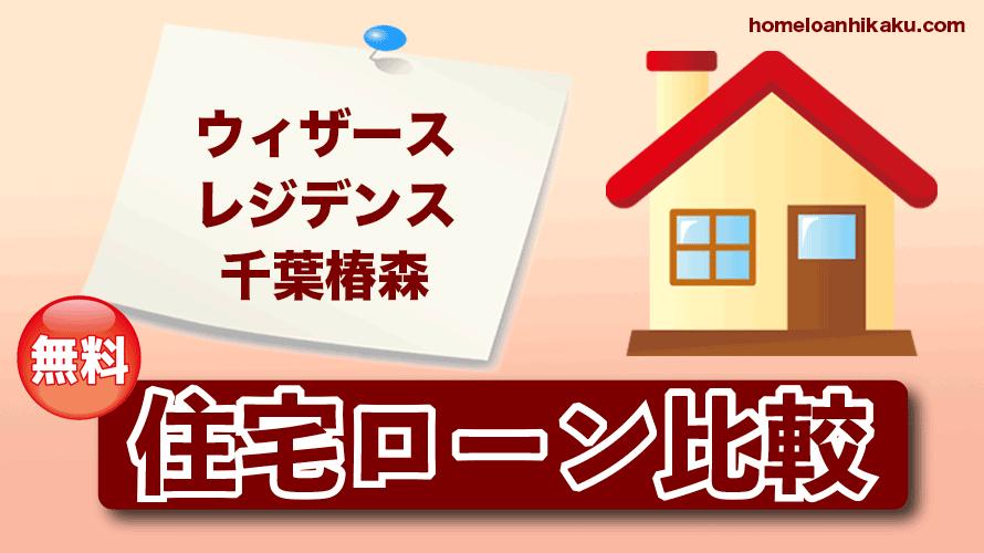 ウィザースレジデンス千葉椿森の住宅ローン比較・金利・ランキング・審査